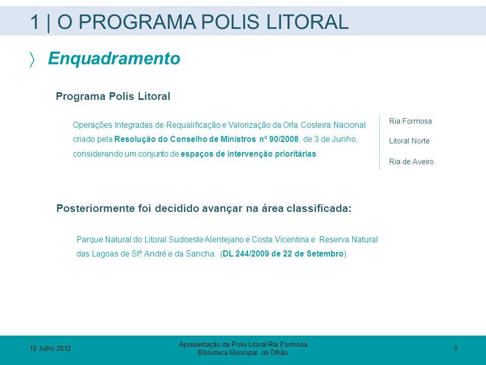1 | O PROGRAMA POLIS LITORAL  Enquadramento Programa Polis Litoral Operações Integradas de Requalificação e Valorização da Orla Costeira Nacional cri