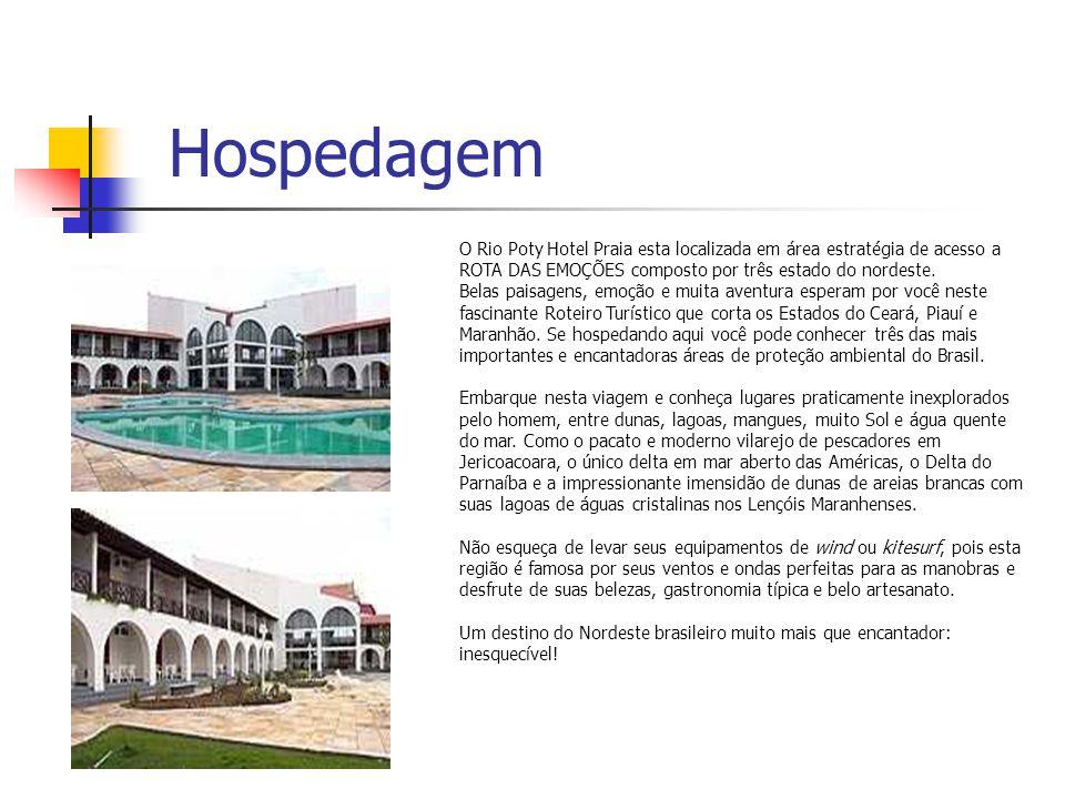Hospedagem O Rio Poty Hotel Praia esta localizada em área estratégia de acesso a ROTA DAS EMOÇÕES composto por três estado do nordeste. Belas paisagen