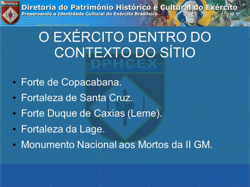 O EXÉRCITO DENTRO DO CONTEXTO DO SÍTIO Forte de Copacabana.