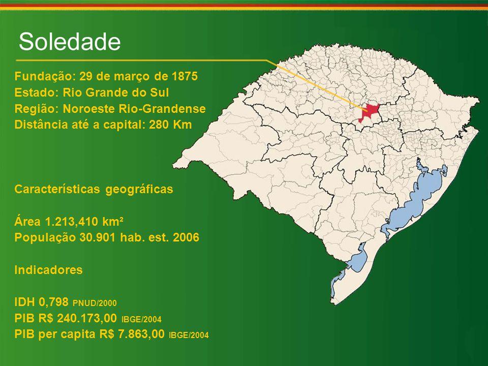 Fundação: 29 de março de 1875 Estado: Rio Grande do Sul Região: Noroeste Rio-Grandense Distância até a capital: 280 Km Características geográficas Área 1.213,410 km² População 30.901 hab.