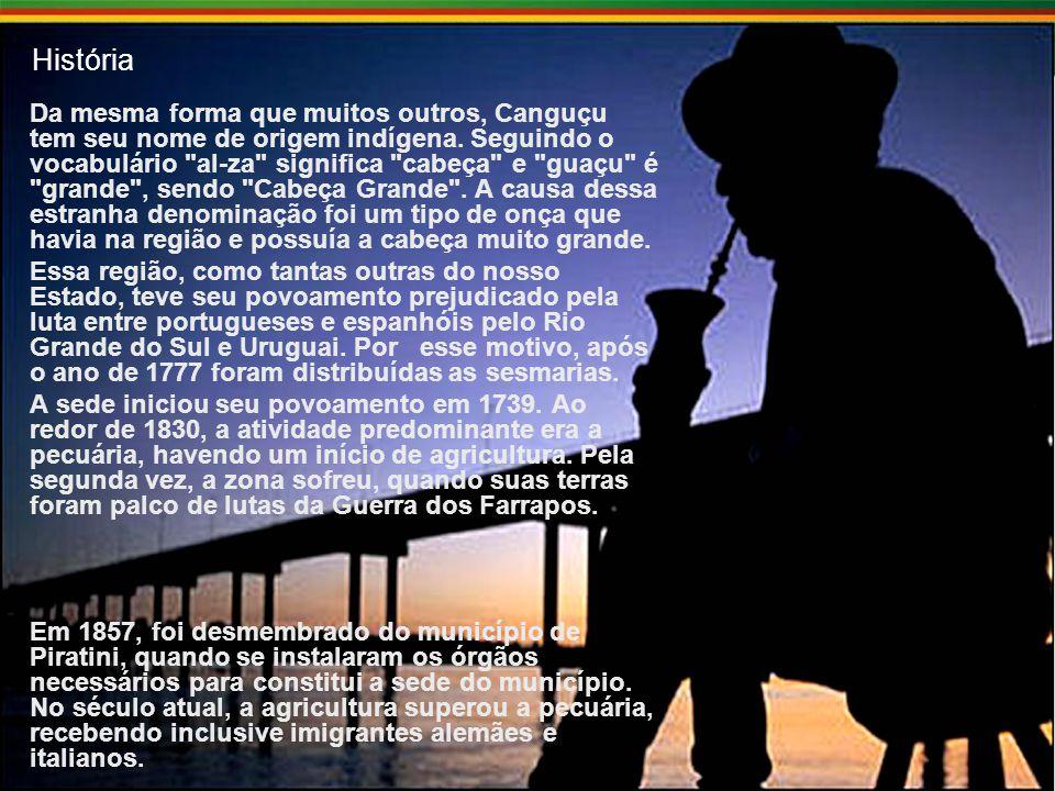 História Da mesma forma que muitos outros, Canguçu tem seu nome de origem indígena.