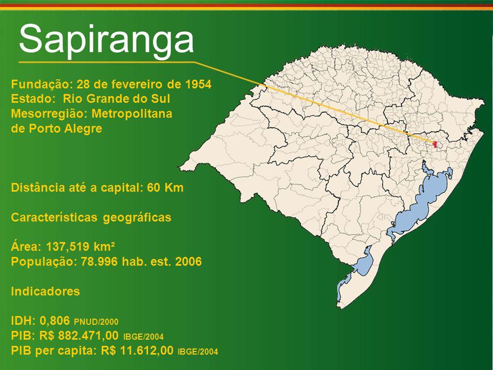 Fundação: 28 de fevereiro de 1954 Estado: Rio Grande do Sul Mesorregião: Metropolitana de Porto Alegre Distância até a capital: 60 Km Características geográficas Área: 137,519 km² População: 78.996 hab.