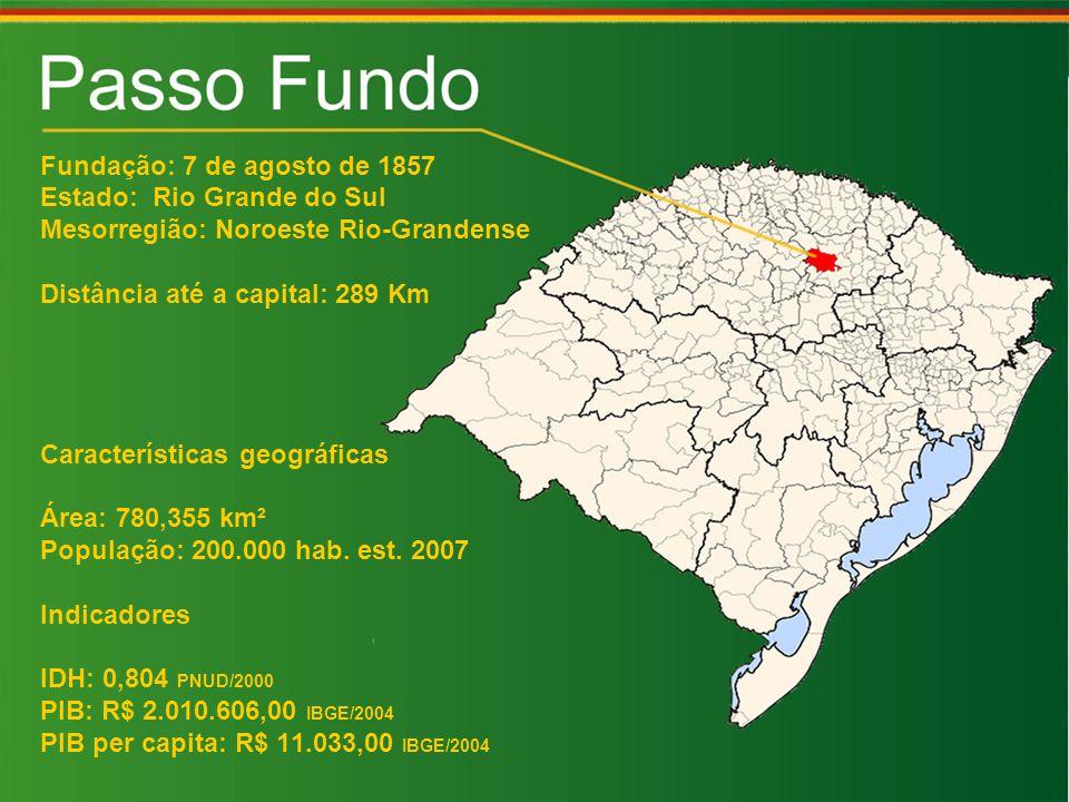 Fundação: 7 de agosto de 1857 Estado: Rio Grande do Sul Mesorregião: Noroeste Rio-Grandense Distância até a capital: 289 Km Características geográficas Área: 780,355 km² População: 200.000 hab.