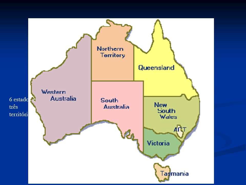 6 estados e três territórios