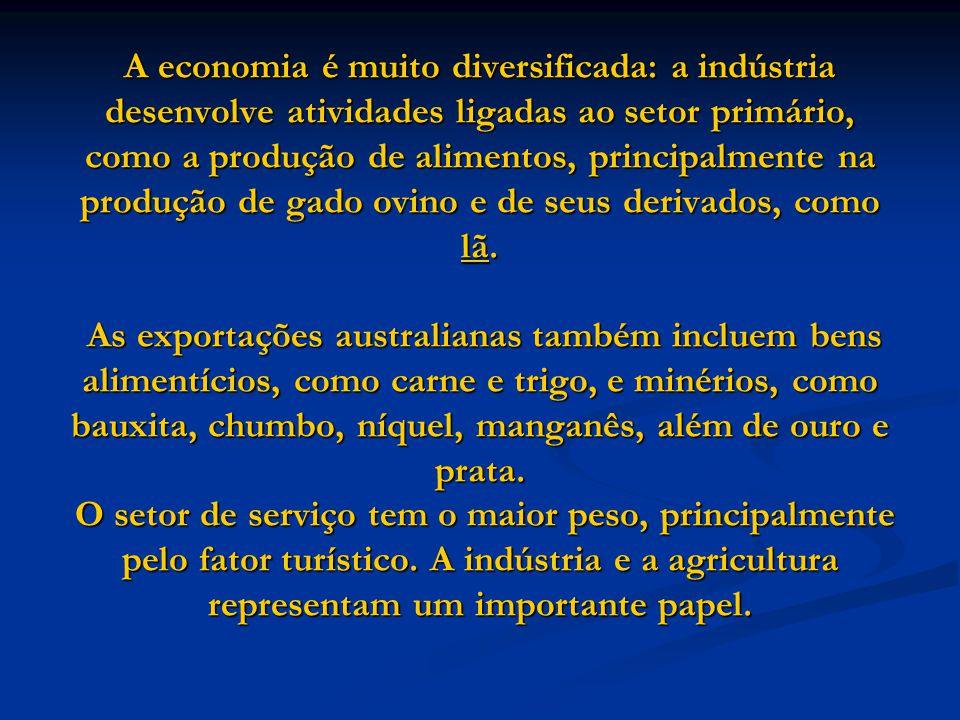 A economia é muito diversificada: a indústria desenvolve atividades ligadas ao setor primário, como a produção de alimentos, principalmente na produçã