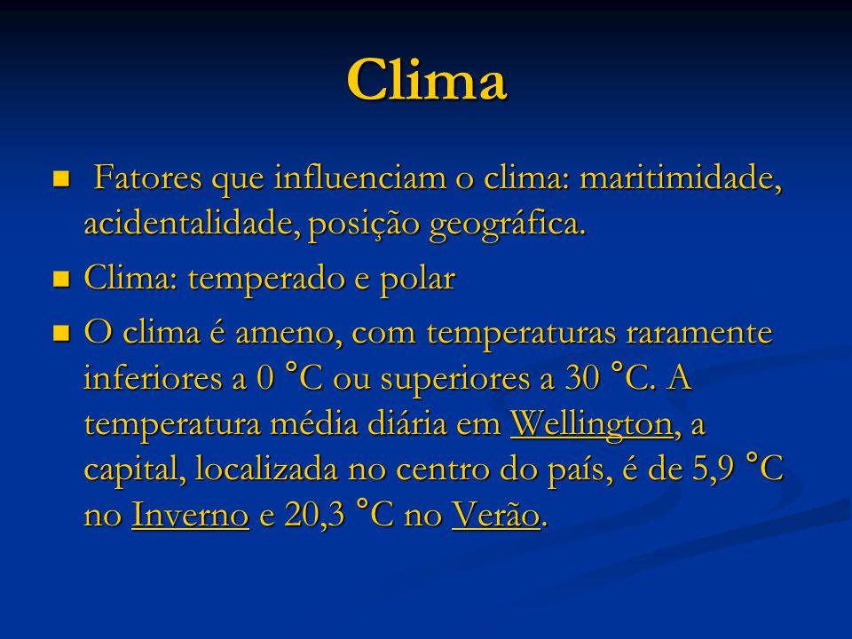 Clima Fatores que influenciam o clima: maritimidade, acidentalidade, posição geográfica.
