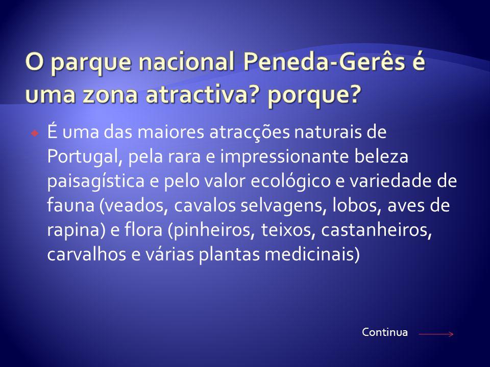  É uma das maiores atracções naturais de Portugal, pela rara e impressionante beleza paisagística e pelo valor ecológico e variedade de fauna (veados, cavalos selvagens, lobos, aves de rapina) e flora (pinheiros, teixos, castanheiros, carvalhos e várias plantas medicinais) Continua