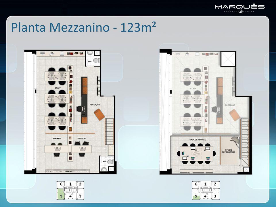 Planta Mezzanino - 123m² 543 216 543 216
