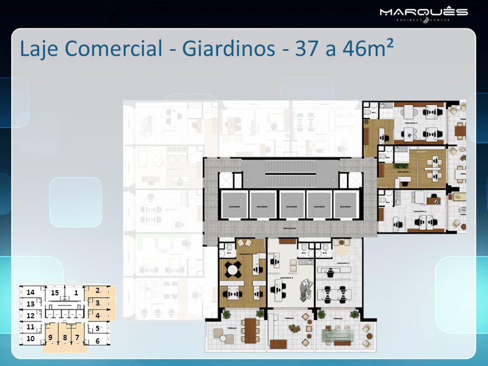 Laje Comercial - Giardinos - 37 a 46m² 1 2 3 4 5 6 789 10 11 12 13 14 15