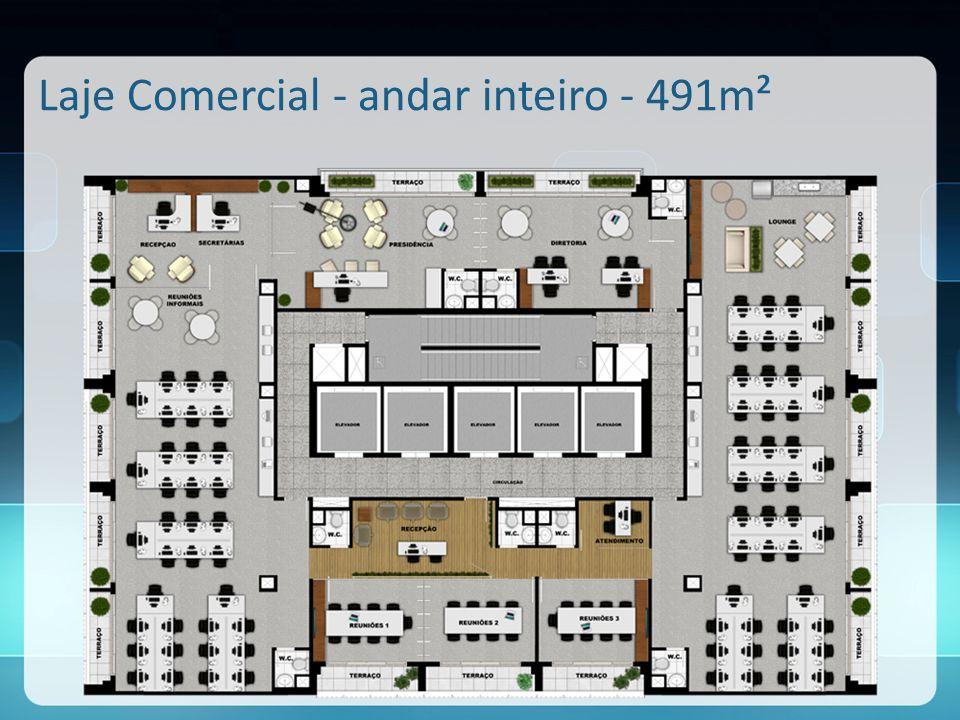 Laje Comercial - andar inteiro - 491m²