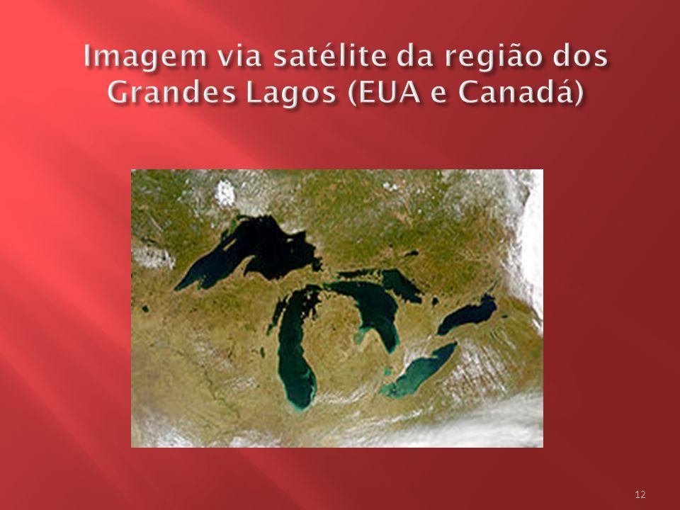 Os Grandes Lagos são um conjunto de cinco lagos situados na América do Norte, entre o Canadá e os Estados Unidos da América.