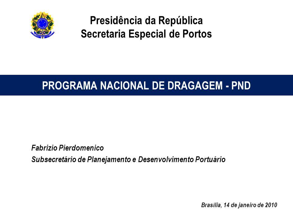 Presidência da República Secretaria Especial de Portos Fabrizio Pierdomenico Subsecretário de Planejamento e Desenvolvimento Portuário Brasília, 14 de