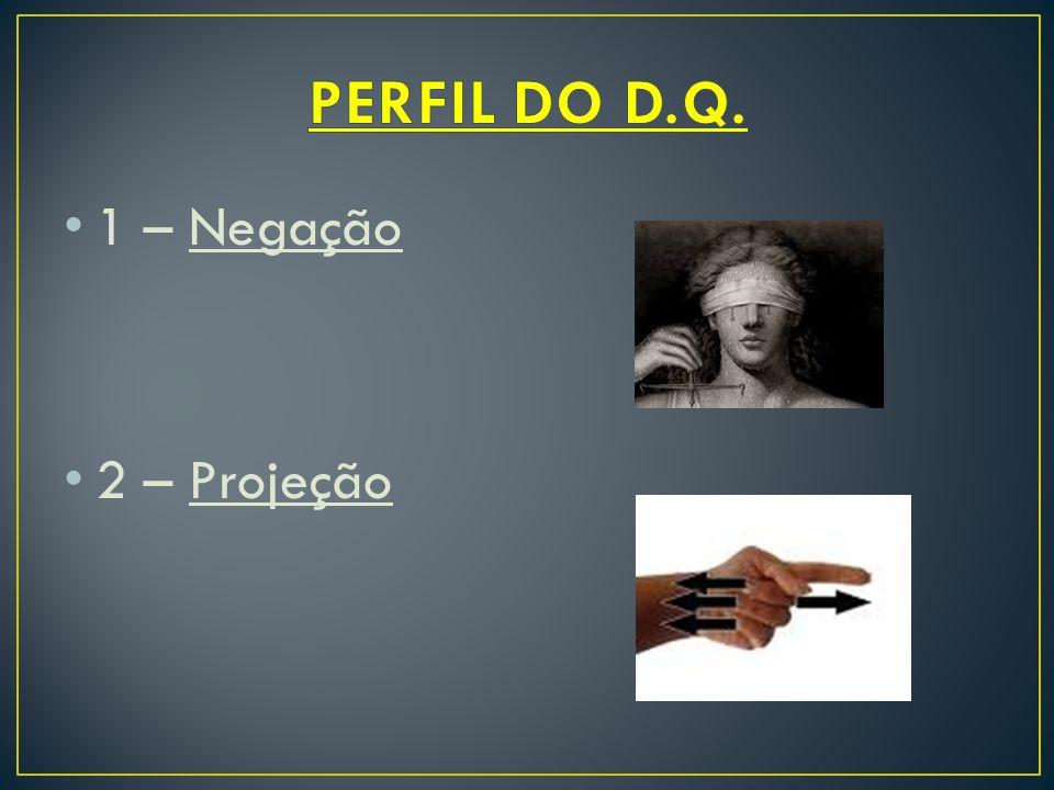 1 – Negação 2 – Projeção