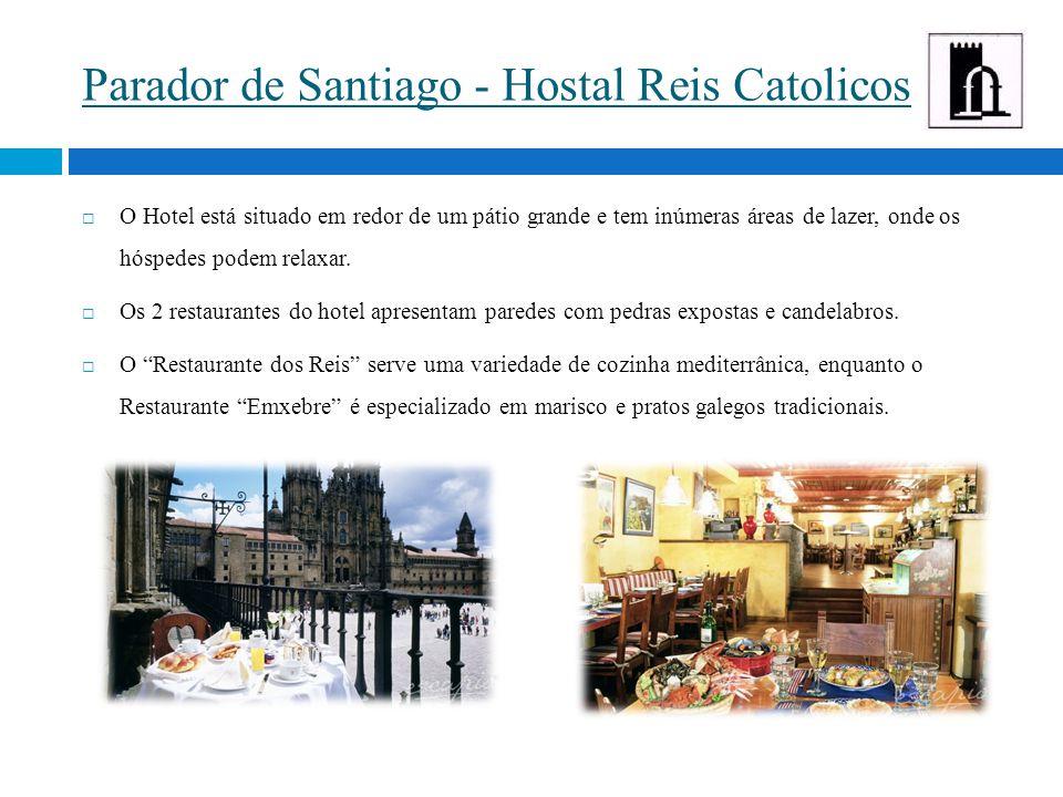 Parador de Santiago - Hostal Reis Catolicos  O Hotel está situado em redor de um pátio grande e tem inúmeras áreas de lazer, onde os hóspedes podem relaxar.