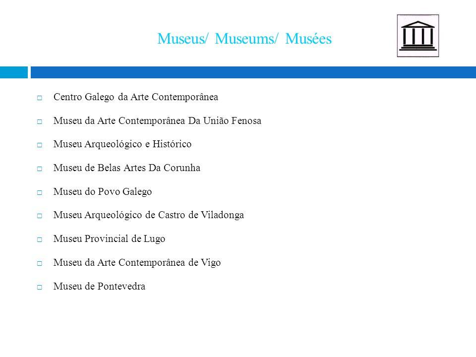Museus/ Museums/ Musées  Centro Galego da Arte Contemporânea  Museu da Arte Contemporânea Da União Fenosa  Museu Arqueológico e Histórico  Museu d