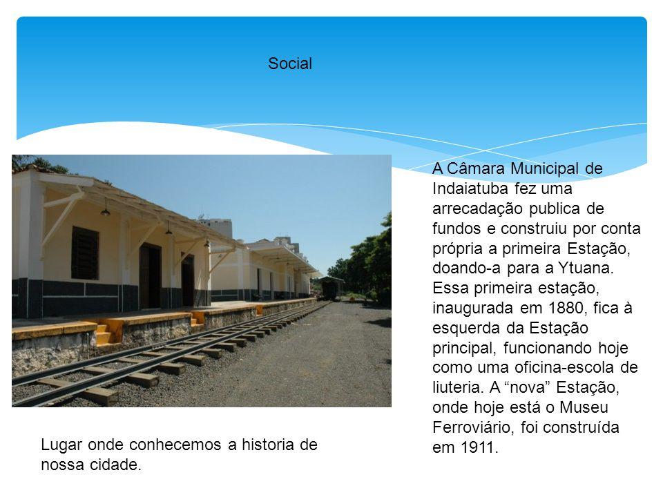Social A Câmara Municipal de Indaiatuba fez uma arrecadação publica de fundos e construiu por conta própria a primeira Estação, doando-a para a Ytuana