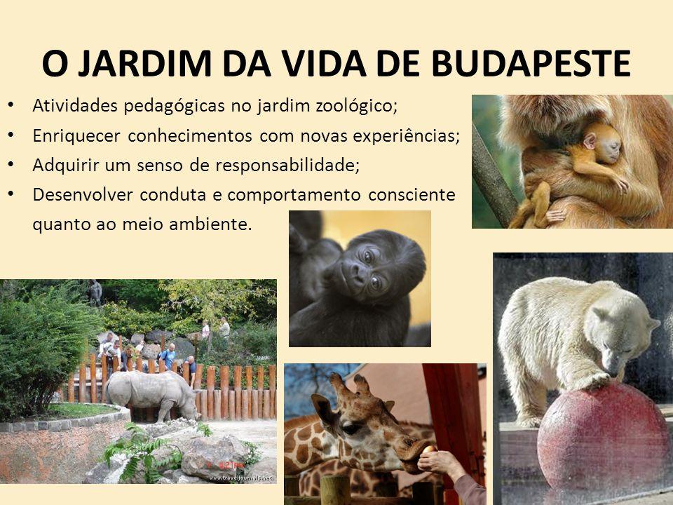 O JARDIM DA VIDA DE BUDAPESTE Atividades pedagógicas no jardim zoológico; Enriquecer conhecimentos com novas experiências; Adquirir um senso de respon