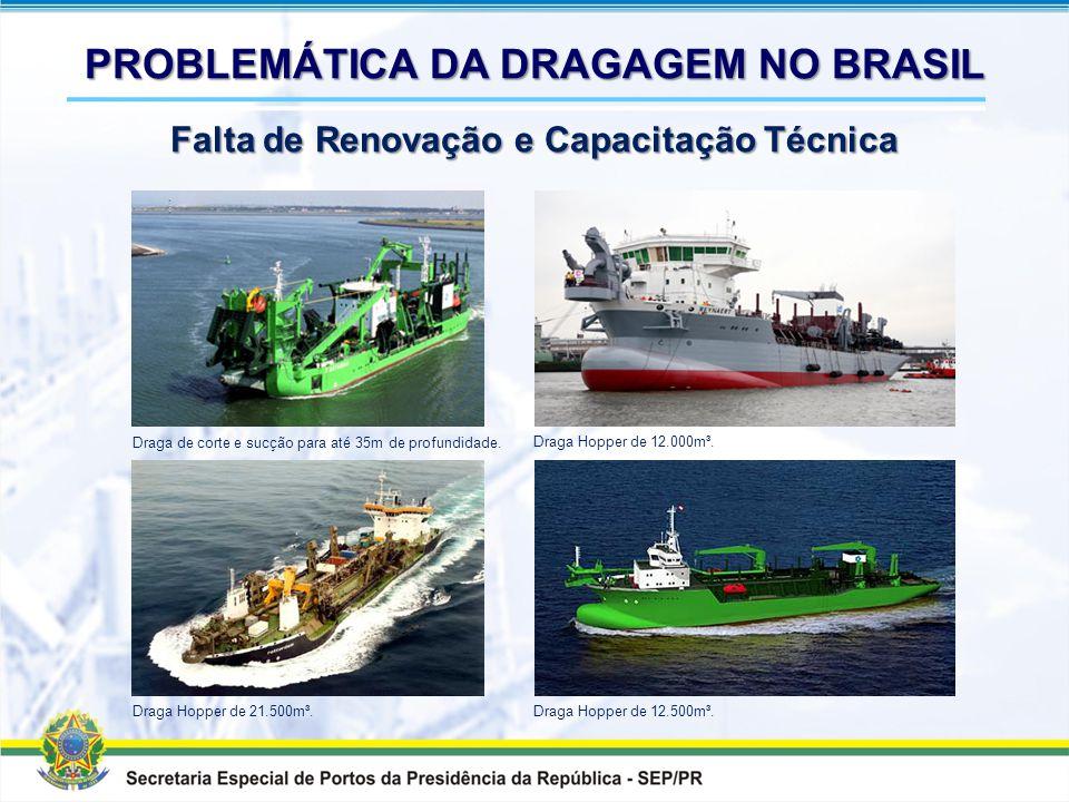 """Draga-navio autotransportadora """"Recreio dos Bandeirantes"""" - 1.340 m³, construída em 1960. Draga-navio autotransportadora """"Copacabana"""" - 5.000 m³. Mais"""