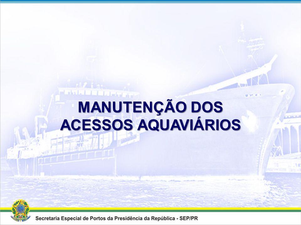 MODERNIZAÇÃO DOS ACESSOS AQUAVIÁRIOS Quadro Resumo Porto Modernização dos Acessos Aquaviários DragagemDerrocagem Valor Total Estimado (R$) Volume Esti