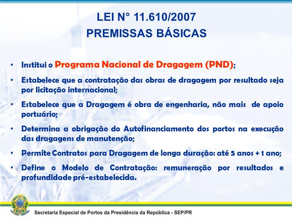 Presidência da República Secretaria Especial de Portos LEI Nº 11.610/2007