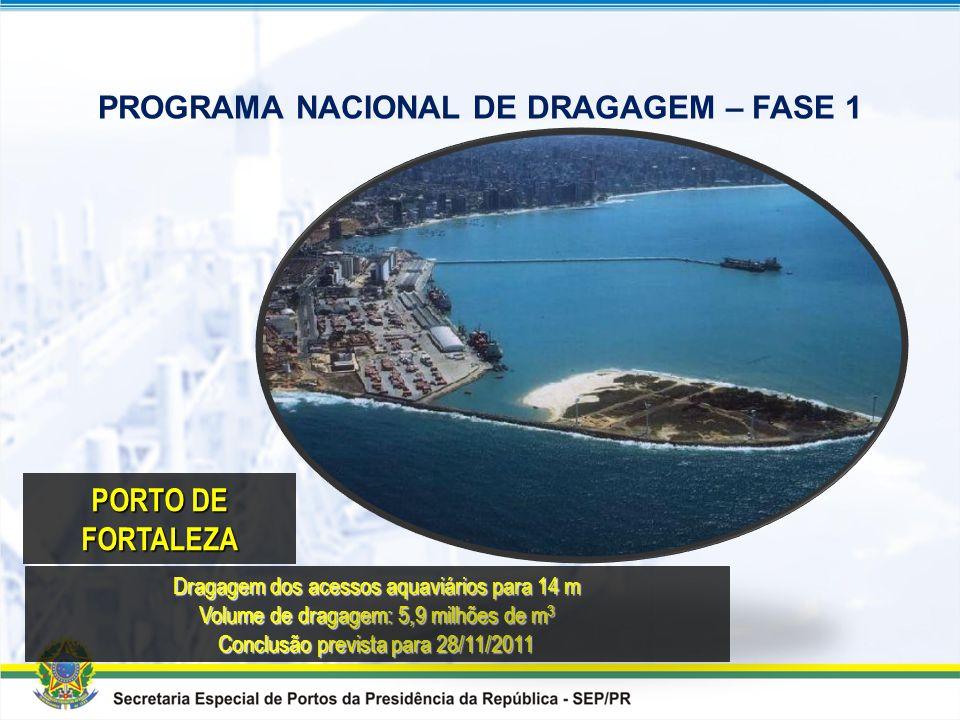 PROGRAMA NACIONAL DE DRAGAGEM Quadro Resumo das Obras de Aprofundamento incluídas no PAC
