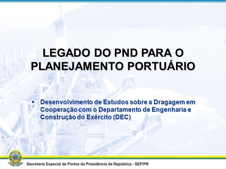 PROGRAMA NACIONAL DE DRAGAGEM Resumo Geral dos investimentos