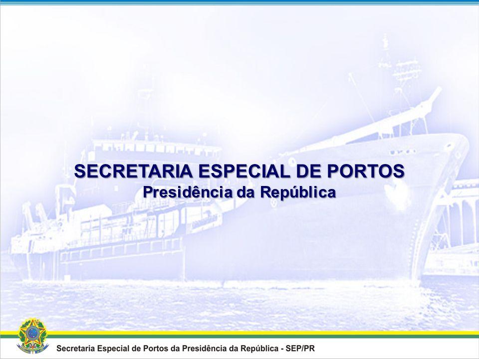 MENSAGEM A dragagem dos acessos aquaviários aos portos compõe o eixo fundamental de Infraestrutura Logística para o desenvolvimento do País. Vamos rea