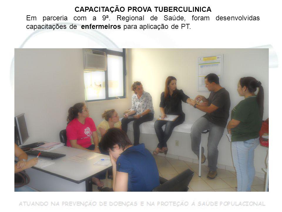 CAPACITAÇÃO PROVA TUBERCULINICA Em parceria com a 9ª.