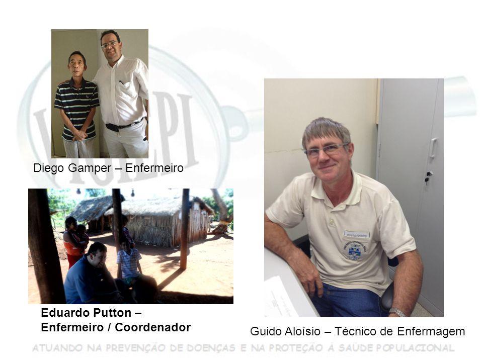 Guido Aloísio – Técnico de Enfermagem Diego Gamper – Enfermeiro Eduardo Putton – Enfermeiro / Coordenador