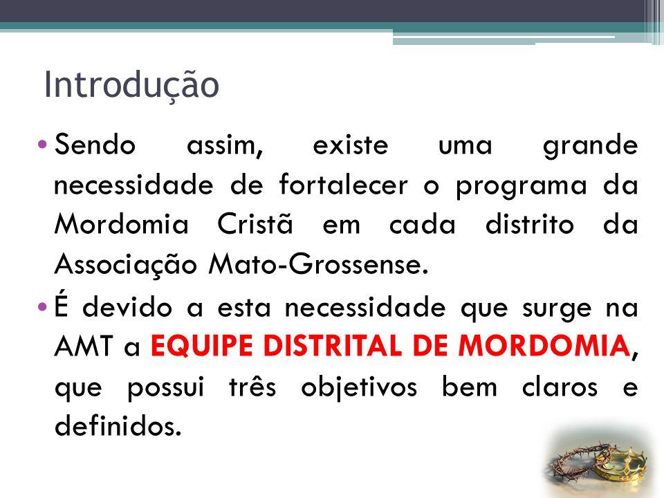 Introdução O Ministério da Mordomia Cristã é a chave principal para o crescimento espiritual e evangelístico da igreja local. É o Ministério que cuida
