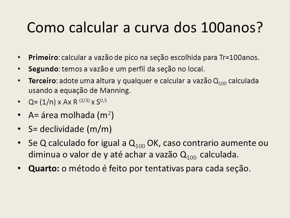 Como calcular a curva dos 100anos.