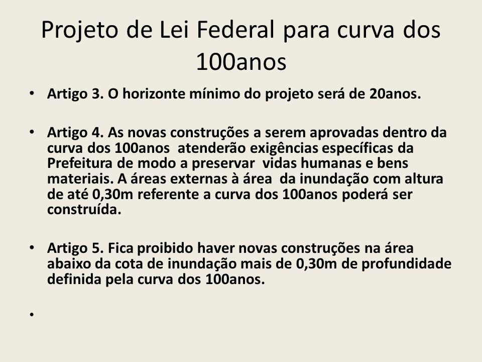 Projeto de Lei Federal para curva dos 100anos Artigo 3.