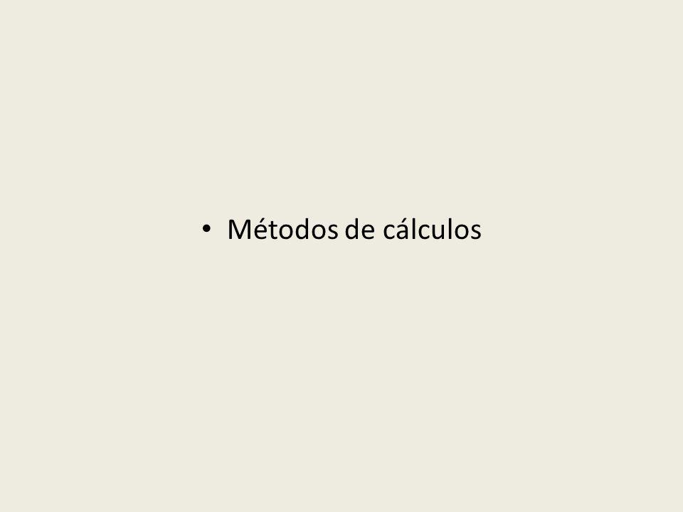 Métodos de cálculos
