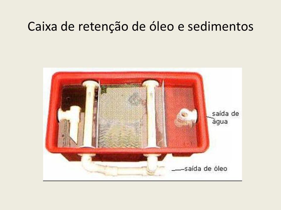 Caixa de retenção de óleo e sedimentos