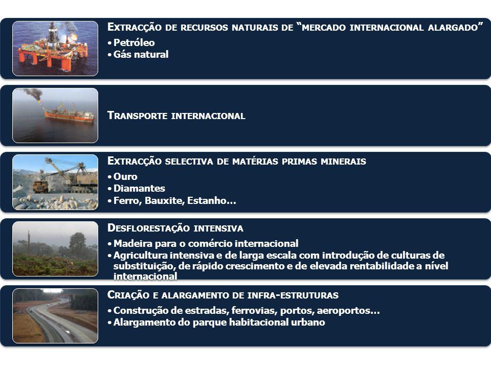 """E XTRACÇÃO DE RECURSOS NATURAIS DE """" MERCADO INTERNACIONAL ALARGADO """" Petróleo Gás natural T RANSPORTE INTERNACIONAL E XTRACÇÃO SELECTIVA DE MATÉRIAS"""