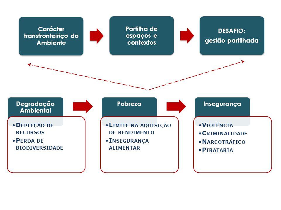 Carácter transfronteiriço do Ambiente Partilha de espaços e contextos DESAFIO: gestão partilhada Degradação Ambiental D EPLEÇÃO DE RECURSOS P ERDA DE