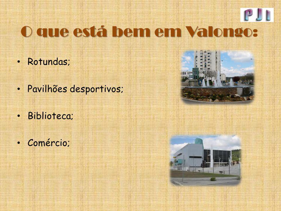 O que está bem em Valongo O que está bem em Valongo: Rotundas; Pavilhões desportivos; Biblioteca; Comércio;