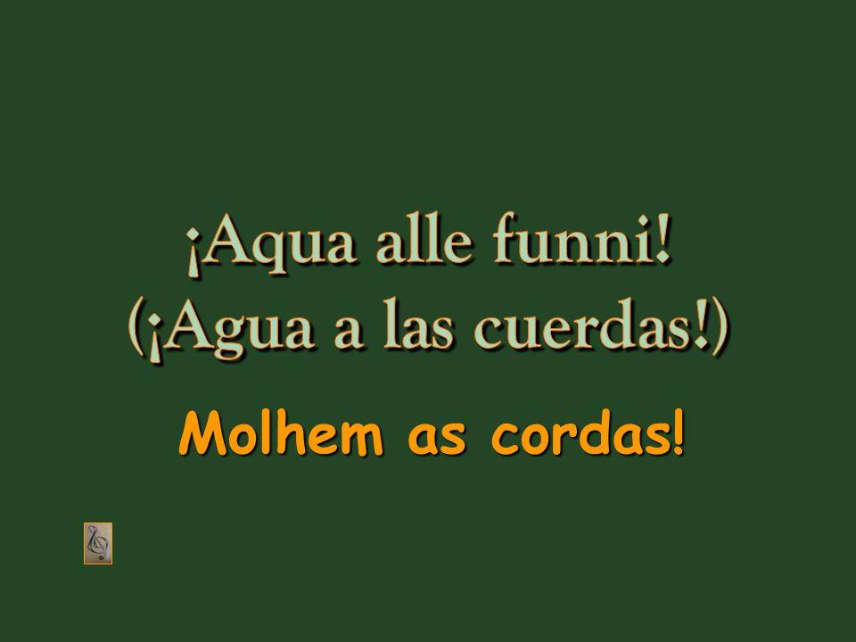Aqua alle funni!, originalmente Molhem as cordas! um grito dado em dialeto genovês, convertido agora totalmente em um símbolo contra o poder estabelecido.