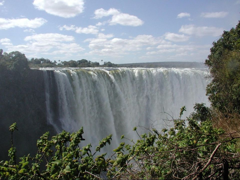 Victoria water Falls are located on the border of Zambia and Zimbabwe.