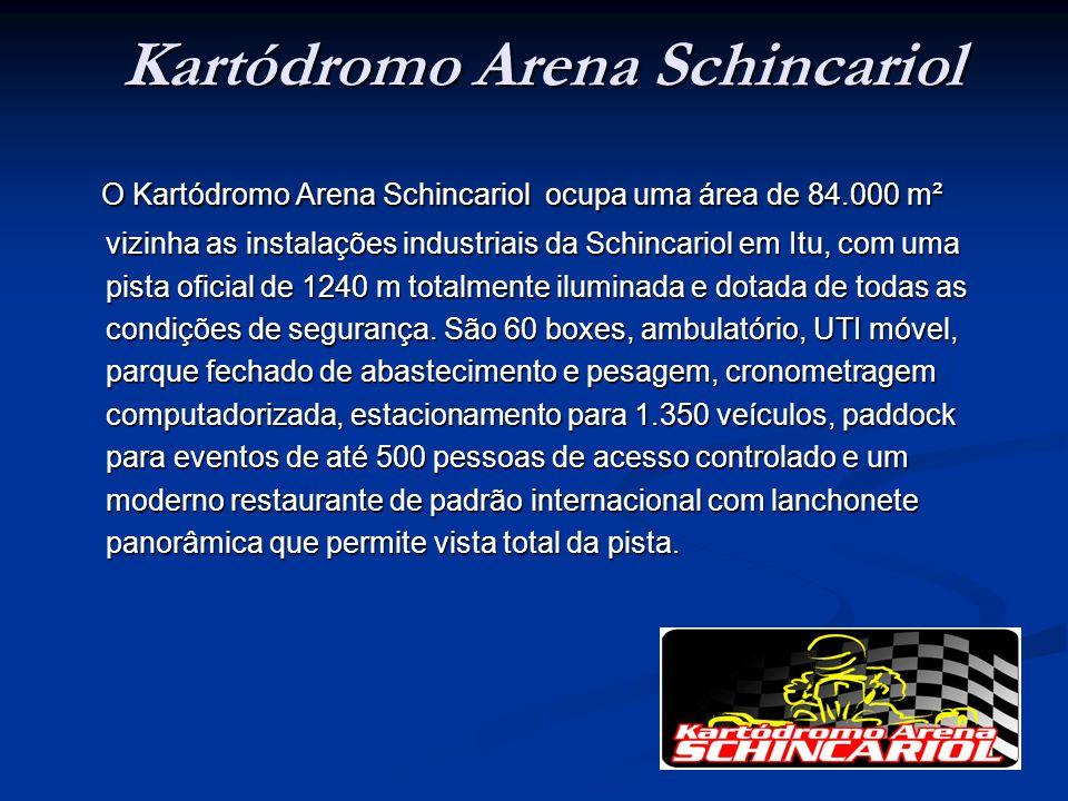 Kartódromo Arena Schincariol O Kartódromo Arena Schincariol ocupa uma área de 84.000 m² vizinha as instalações industriais da Schincariol em Itu, com