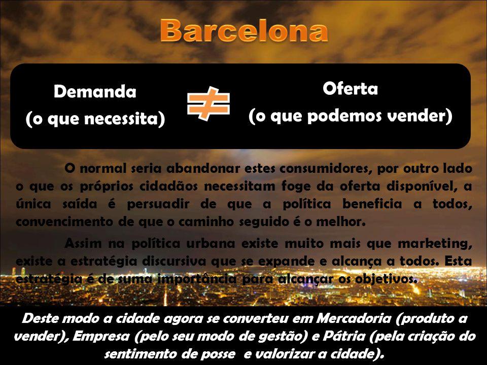 A análise do caso de Barcelona, mostra precisamente como os processos de transformação urbana, tem sido acompanhados de multiplicidade de representações urbanas.