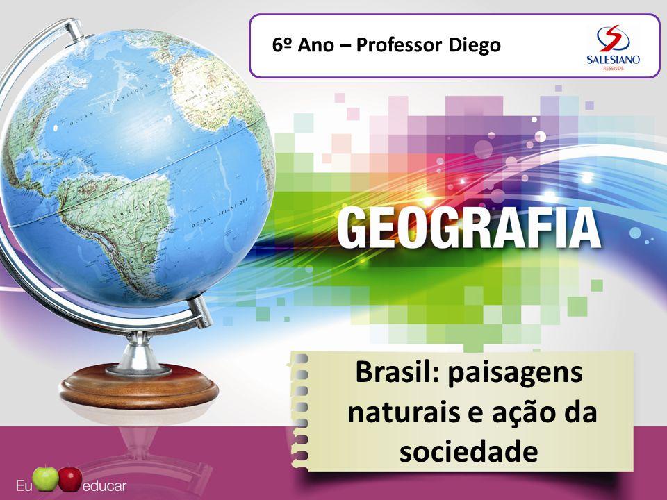 Brasil: paisagens naturais e ação da sociedade Dinâmica da natureza A paisagem é sempre resultado da interação dinâmica entre os diversos elementos da natureza.
