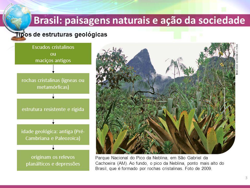 Brasil: paisagens naturais e ação da sociedade Bioma Cerrado Vegetação mista plantas de médio porte gramíneas + Próprio do clima tropical típico (ou semiúmido) É um tipo de savana Cortado por três bacias hidrográficas Tocantins-Araguaia São Francisco Platina 45% do Cerrado foi destruído devido à expansão da agropecuária 34