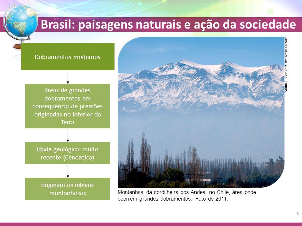 Brasil: paisagens naturais e ação da sociedade Bioma Pampa Também conhecido como campos Vegetação rasteira (herbácea) Banhados ecossistemas alagados de juncos, gravatás e aguapés que criam um habitat ideal para uma grande variedade de animais Banhado do Taim, em Pelotas (RS), 2010.