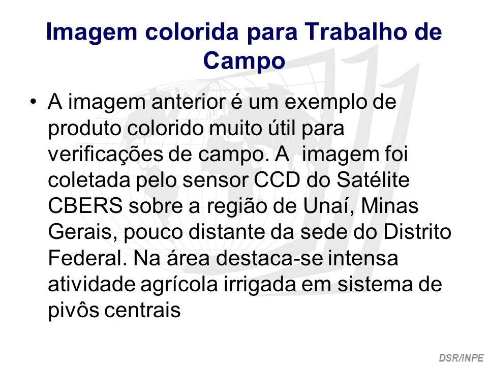 Imagem colorida para Trabalho de Campo A imagem anterior é um exemplo de produto colorido muito útil para verificações de campo. A imagem foi coletada