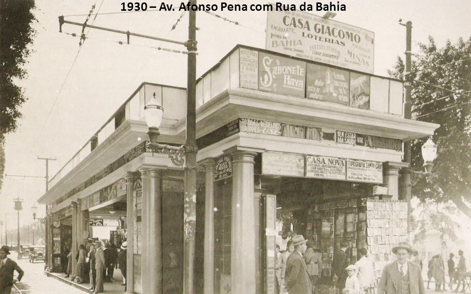1930 – Av. Afonso Pena com Rua da Bahia