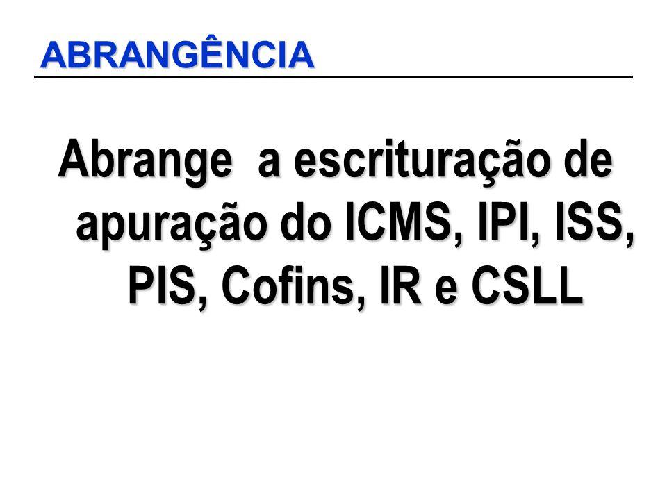 LEIAUTE REGISTROS Registro C481 – Consolidação Apuração PIS Informação da apuração do PIS por item e por ECF.