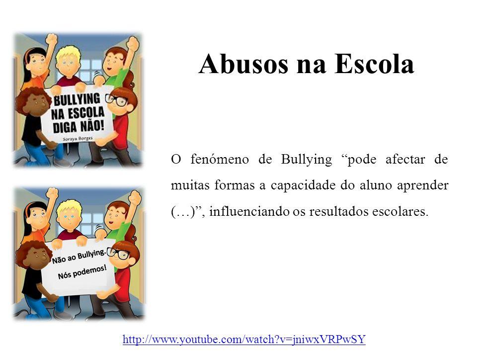 """Abusos na Escola O fenómeno de Bullying """"pode afectar de muitas formas a capacidade do aluno aprender (…)"""", influenciando os resultados escolares. htt"""