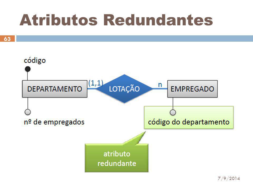 Atributos Redundantes 7/9/2014 63