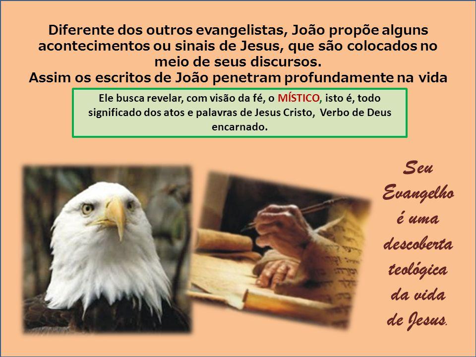 Diferente dos outros evangelistas, João propõe alguns acontecimentos ou sinais de Jesus, que são colocados no meio de seus discursos. Assim os escrito